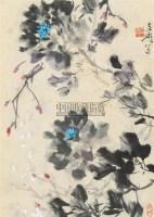 墨牡丹 镜心 纸本 - 王雪涛 - 中国书画 - 2010年秋季书画专场拍卖会 -中国收藏网