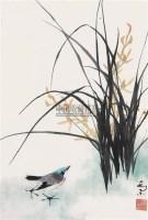 花卉小鸟 立轴 纸本 - 4966 - 中国书画(下) - 2010瑞秋艺术品拍卖会 -收藏网