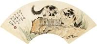 猫 扇面 纸本 - 徐悲鸿 - 扇面小品 - 2010秋季艺术品拍卖会 -中国收藏网