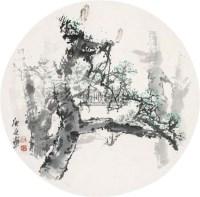 苍翠帆影 镜心 设色纸本 - 白庚延 - 中国书画(一) - 2010年秋季艺术品拍卖会 -收藏网