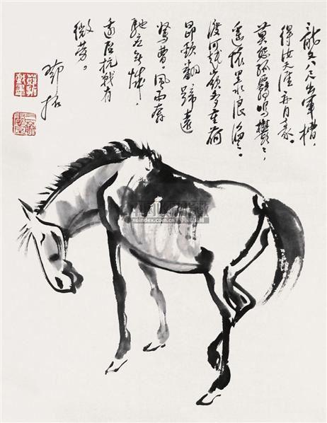 马 立轴 纸本 - 4326 - 文物公司旧藏暨海外回流 - 2010秋季艺术品拍卖会 -收藏网