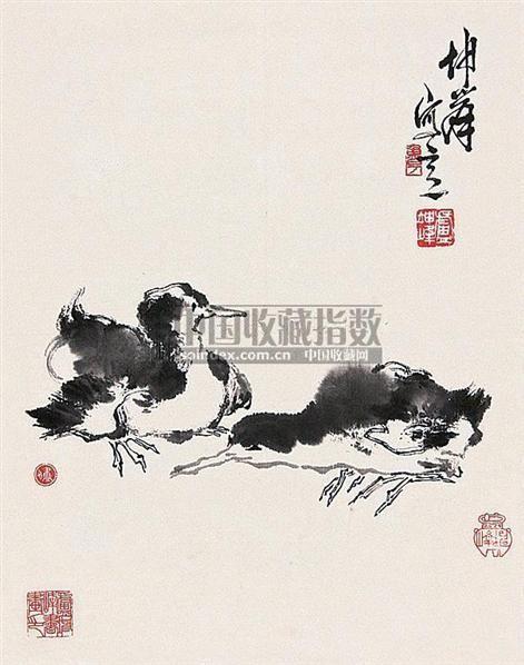 双雏 立轴 纸本 - 123368 - 中国书画(下) - 2010瑞秋艺术品拍卖会 -收藏网
