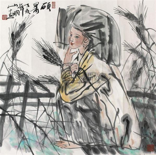 硕果 镜心 设色纸本 - 114688 - 中国书画(一) - 2010年秋季艺术品拍卖会 -收藏网