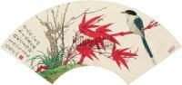 花鸟 (一件) 扇片 纸本 - 于非闇 - 字画上午专场  - 2010年秋季大型艺术品拍卖会 -收藏网