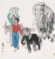 傣族风情 镜心 设色纸本 - 史国良 - 中国书画(一) - 2010年秋季艺术品拍卖会 -收藏网