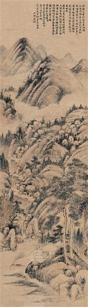 山水 (一件) 立轴 纸本 - 116518 - 字画下午专场  - 2010年秋季大型艺术品拍卖会 -收藏网