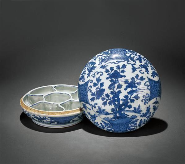 青花花鸟纹盖盒 -  - 瓷器 - 2010年秋季拍卖会 -收藏网