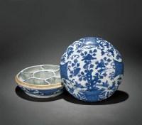 青花花鸟纹盖盒 -  - 瓷器 - 2010年秋季拍卖会 -中国收藏网