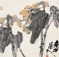 枇杷 镜片 设色纸本 - 张立辰 - 中国书画 - 2010秋季艺术品拍卖会 -收藏网