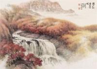 满山红叶图 镜片 设色纸本 - 137225 - 中国书画一 - 2010年秋季艺术品拍卖会 -收藏网