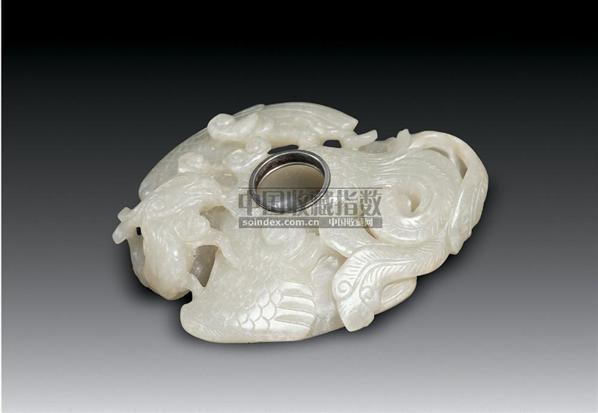 青玉神鸟形水丞 -  - 中国古代工艺美术 - 2006年度大型经典艺术品拍卖会 -收藏网