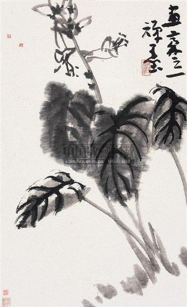 花卉 立轴 纸本 - 139807 - 中国书画(下) - 2010瑞秋艺术品拍卖会 -收藏网