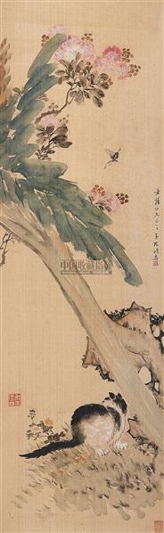 耄耋图 (一件) 屏轴 绢本 - 6768 - 字画下午专场  - 2010年秋季大型艺术品拍卖会 -收藏网