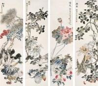 程十緑(1921~  )  鹿鸣青春图 -  - 中国书画海上画派作品 - 2005年首届大型拍卖会 -中国收藏网