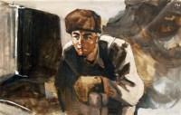 李延声 人物 水粉镜心 - 李延声 - 中国书画、油画 - 2006艺术精品拍卖会 -收藏网