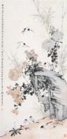 竹石花鸟 立轴 设色纸本 -  - 中国书画夜场 - 2010秋季艺术品拍卖会 -收藏网