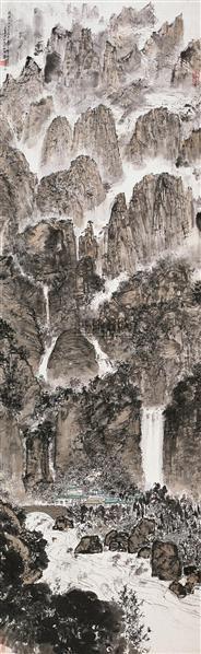 黄山全景图 立轴 设色纸本 - 2538 - 中国书画一 - 2010秋季艺术品拍卖会 -收藏网