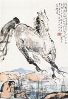 马图 立轴 纸本设色 - 刘勃舒 - 中国当代书画 - 2010秋季艺术品拍卖会 -收藏网