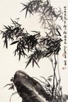 卢坤峰  竹石图 - 卢坤峰 - 中国书画(上) - 2006夏季大型艺术品拍卖会 -中国收藏网