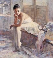 芭蕾舞蹈演员之一 布面  油画 - 邱瑞敏 - 华人西画 - 2006年度大型经典艺术品拍卖会 -收藏网