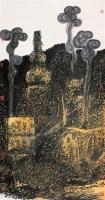 日下旧考 立轴 设色纸本 - 陈平 - 中国书画 - 第54期书画精品拍卖会 -收藏网