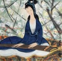 仕女 (一件) 镜片 纸本 - 林风眠 - 字画下午专场  - 2010年秋季大型艺术品拍卖会 -中国收藏网