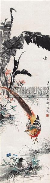 锦园花簇 立轴 设色纸本 - 116837 - 中国书画 - 第9期中国艺术品拍卖会 -收藏网