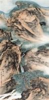 松泉清韵图 镜片 设色纸本 - 车鹏飞 - 中国书画三 - 2010年秋季艺术品拍卖会 -收藏网