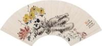 菊石扇面 镜心 设色纸本 - 姚华 - 中国书画专场 - 2010年秋季艺术品拍卖会 -收藏网