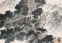 山水 立轴 纸本 - 140528 - 中国书画(上) - 2010瑞秋艺术品拍卖会 -收藏网