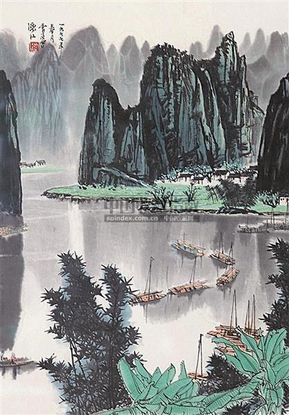 山水 镜心 设色纸本 - 8623 - 中国书画 - 2006秋季书画艺术品拍卖会 -中国收藏网