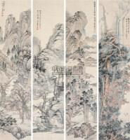 山水 立轴 纸本设色 - 李上达 - 中国古代书画  - 2010秋季艺术品拍卖会 -收藏网