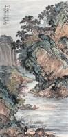 """赤壁夜游 立轴 设色纸本 - 袁松年 - 中国书画 - 2010秋季""""天津文物""""专场 -收藏网"""