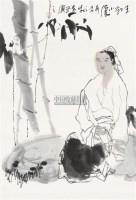 王勃小像 镜心 纸本设色 - 119214 - 中国当代书画 - 2010秋季艺术品拍卖会 -收藏网