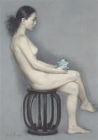 盖碗茶 NO.2 - 155435 - 油画 - 2010年秋季拍卖会 -收藏网