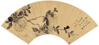 潘遵祁(1808~1892)  墨笔绣球图 -  - 中国书画金笺扇面 - 2005年首届大型拍卖会 -收藏网