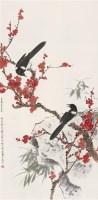 梅花双喜 立轴 设色纸本 - 龚文桢 - 中国书画 - 第54期书画精品拍卖会 -收藏网