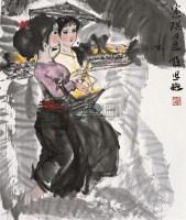 傣族小姐妹 镜片 设色纸本 - 周思聪 - 中国书画 - 2010秋季艺术品拍卖会 -收藏网