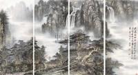 山水通景屏 立轴 纸本设色 - 陶冷月 - 中国当代书画 - 2010秋季艺术品拍卖会 -中国收藏网