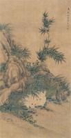 双兔 立轴 设色纸本 - 沈铨 - 名家书画·油画专场 - 2006夏季书画艺术品拍卖会 -收藏网