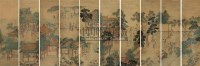 人物通景 十屏 绢本设色 - 116944 - 中国古代书画  - 2010秋季艺术品拍卖会 -收藏网