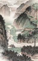 山水 立轴 纸本 - 黄纯尧 - 中国书画 - 2010秋季艺术品拍卖会 -收藏网