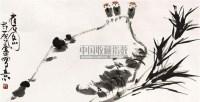 雀石图 立轴 纸本 - 许麟庐 - 中国书画 - 2010秋季艺术品拍卖会 -收藏网