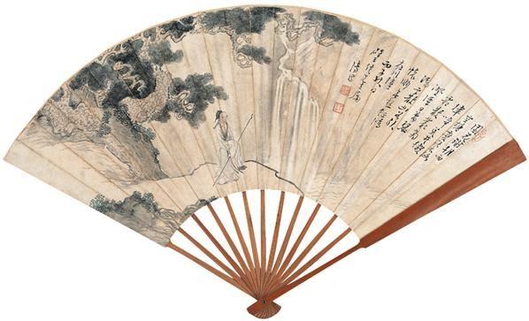 高士 成扇 设色纸本 - 1518 - 扇画·古代书画专场 - 2006夏季书画艺术品拍卖会 -中国收藏网