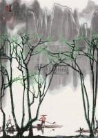 漓江春水 屏轴 纸本 - 白雪石 - 中国书画(上) - 2010瑞秋艺术品拍卖会 -中国收藏网