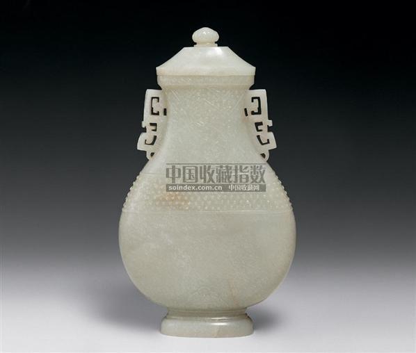 白玉鼓钉纹瓶 -  - 中国古代工艺美术 - 2006年度大型经典艺术品拍卖会 -收藏网