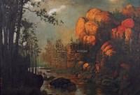 夕阳清溪 (一件) 布面 - 颜文樑 - 字画下午专场  - 2010年秋季大型艺术品拍卖会 -收藏网
