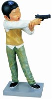 李继开  射击 - 李继开 - 当代中国雕塑专场 - 2008年秋季艺术品拍卖会 -收藏网
