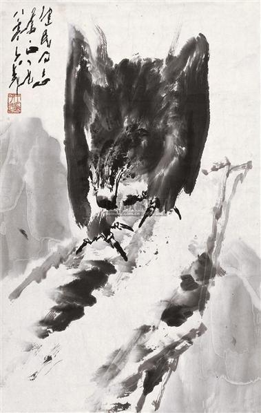 鹰 软片 水墨纸本 - 118173 - 中国书画 - 2010秋季艺术品拍卖会 -收藏网