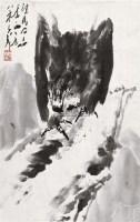 鹰 软片 水墨纸本 - 王子武 - 中国书画 - 2010秋季艺术品拍卖会 -收藏网